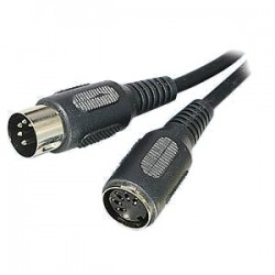 MIDI extension cable 5 m male jack - female jack